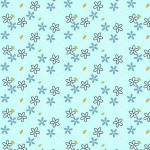 Mist Glitter Daisy Metallic Cotton