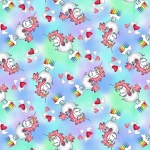 Believe in Magic Multi Unicorn Cotton