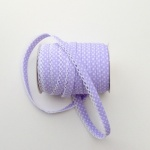 Lilac Spot Lace Edge Bias