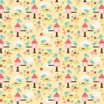 Bloom Birds Yellow Cotton