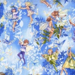 Flower Fairies Dawn Metallic Cotton