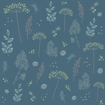 Fairy Edith Wildflowers Blue Cotton