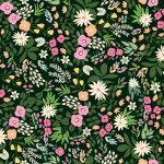 Evergreen Tropical Floral Cotton
