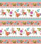 Forest Frolic Border Cotton