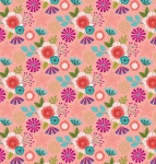 Forest Frolic Floral Peachy Pink Cotton