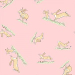 GHMILY Pink Hares Cotton