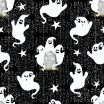 Ghostly 'Glow' Town Black Ghosts Cotton