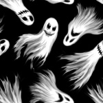 Ghoulish Gathering Ghosts Glow In The Dark Cotton