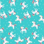 Unicorn Magic Unicorn Love Aqua Cotton Pearlescent
