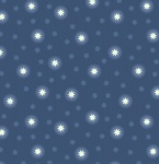 Fairy Nights Midnight Blue Starry Sky Cotton