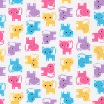 Urban Zoologie Mini Kitties Spring Cotton