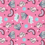 Pink Cat Love Cotton