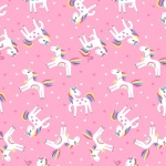 Unicorn Magic Unicorn Love Pink Cotton Pearlescent
