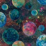 Ray Of Hope Mulit Planets Cotton Digital Print
