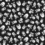 Sabbeth Rock Skulls Black Cotton