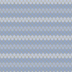 Lets Be Mermaids Scallops Periwinkle Cotton
