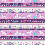 Unicorn Magic Stripe Multi Cotton Pearlescent