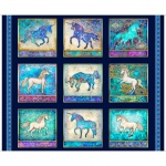 Mystical Unicorn Patches Panel Cotton