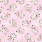 Unicorn Utopia Pink Unicorns Cotton Metallic