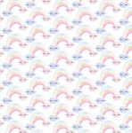 Unicorn Utopia White Rainbows Cotton Metallic