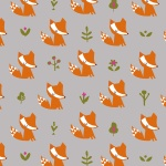 Walk in the Woods Fox Grey Cotton