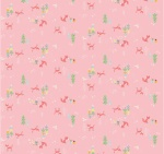 Winter Tales Fox & Bunny Pink Cotton