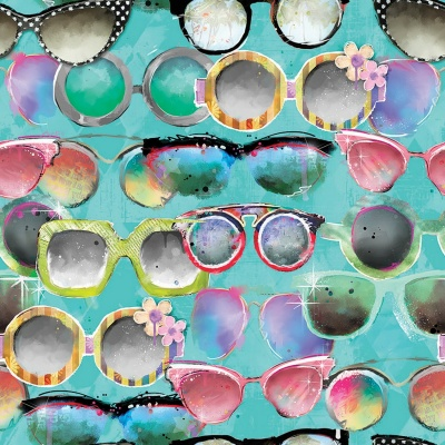 Sassy Animals Glasses Digital Cotton