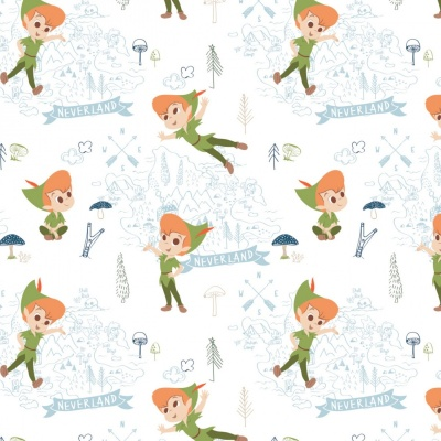 White Disney Neverland Adventures Cotton