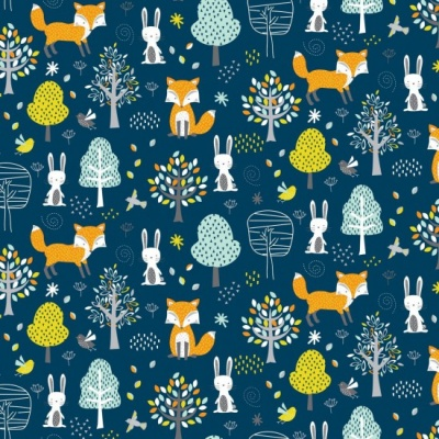 Woodland Friends Forest Cotton
