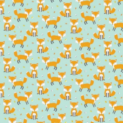 Woodland Friends Foxes Cotton